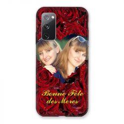 Coque Pour Samsung Galaxy S20 FE / S20FE personnalisee Fete Des Meres Roses Rouges