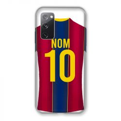 Coque Pour Samsung Galaxy S20 FE / S20FE personnalisee Maillot Football FC Barcelone
