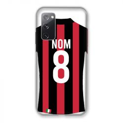 Coque Pour Samsung Galaxy S20 FE / S20FE personnalisee Maillot Football Milan AC