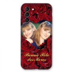 Coque Pour Samsung Galaxy S21 Personnalisee Fete Des Meres Roses Rouges