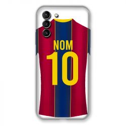 Coque Pour Samsung Galaxy S21 Plus Personnalisee Maillot Football FC Barcelone