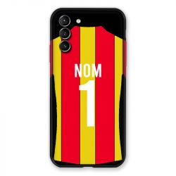 Coque Pour Samsung Galaxy S21 Plus Personnalisee Maillot Football RC Lens