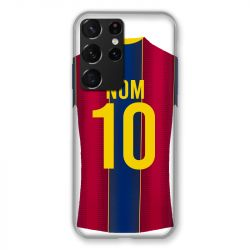 Coque Pour Samsung Galaxy S21 Ultra Personnalisee Maillot Football FC Barcelone
