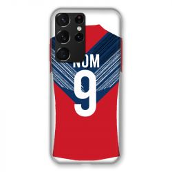 Coque Pour Samsung Galaxy S21 Ultra Personnalisee Maillot Football LOSC Lille