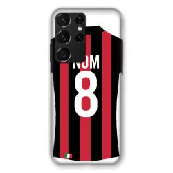 Coque Pour Samsung Galaxy S21 Ultra Personnalisee Maillot Football Milan AC