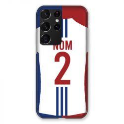 Coque Pour Samsung Galaxy S21 Ultra Personnalisee Maillot Football Olympique Lyonnais Domicile