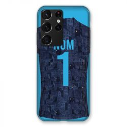 Coque Pour Samsung Galaxy S21 Ultra Personnalisee Maillot Football Olympique Marseille Exterieur