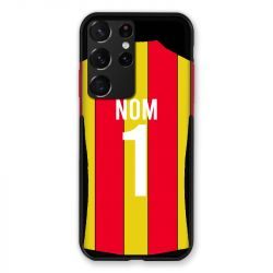 Coque Pour Samsung Galaxy S21 Ultra Personnalisee Maillot Football RC Lens