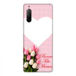 Coque Pour Sony Xperia 10 II Personnalisee Fete Des Meres Coeurs Roses