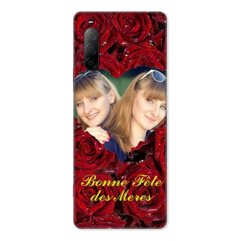Coque Pour Sony Xperia 10 II Personnalisee Fete Des Meres Roses Rouges