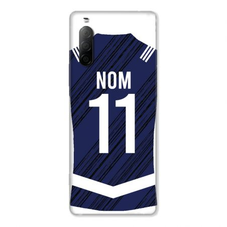 Coque Pour Sony Xperia 10 II Personnalisee Maillot Footbal Girondins Bordeaux