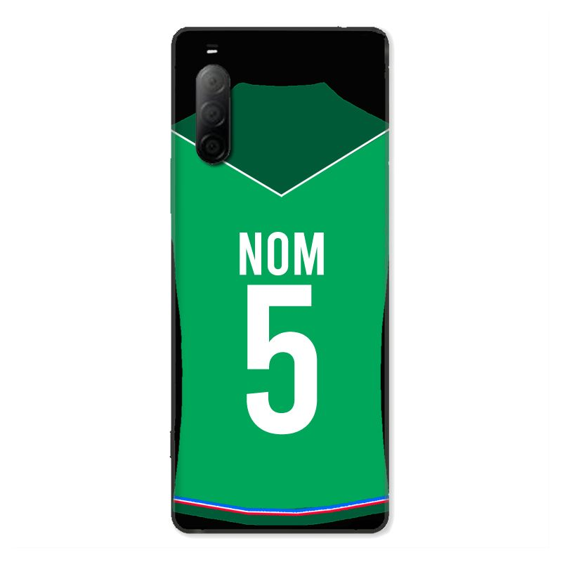 Coque Pour Sony Xperia 10 II Personnalisee Maillot Football AS Saint Etienne