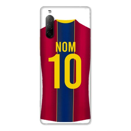 Coque Pour Sony Xperia 10 II Personnalisee Maillot Football FC Barcelone