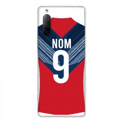 Coque Pour Sony Xperia 10 II Personnalisee Maillot Football LOSC Lille