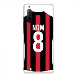 Coque Pour Sony Xperia 10 II Personnalisee Maillot Football Milan AC