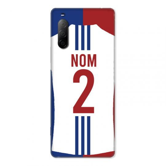Coque Pour Sony Xperia 10 II Personnalisee Maillot Football Olympique Lyonnais Domicile