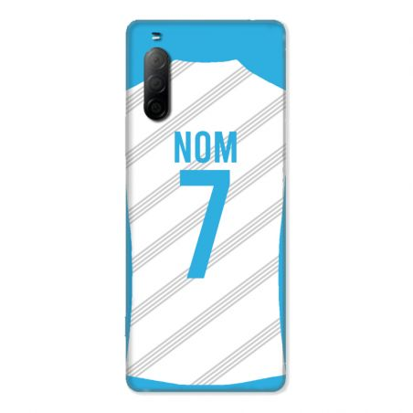 Coque Pour Sony Xperia 10 II Personnalisee Maillot Football Olympique Marseille Domicile