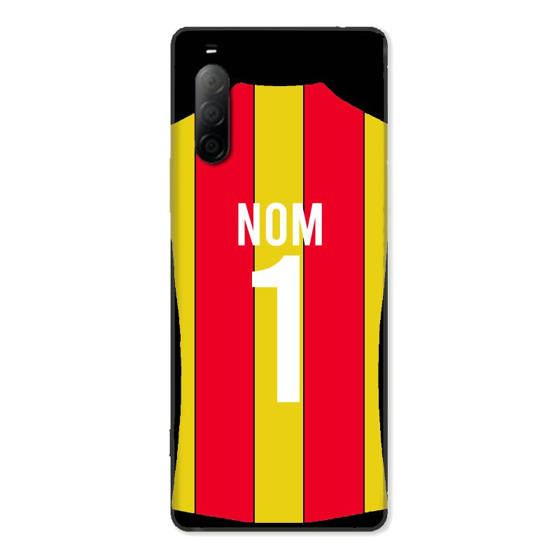 Coque Pour Sony Xperia 10 II Personnalisee Maillot Football RC Lens