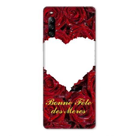 Coque Pour Sony Xperia L4 Personnalisee Fete Des Meres Roses Rouges