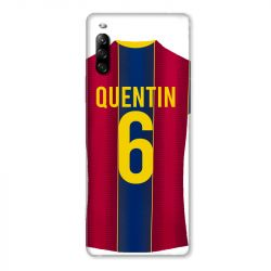 Coque Pour Sony Xperia L4 Personnalisee Maillot Football FC Barcelone