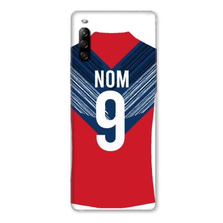 Coque Pour Sony Xperia L4 Personnalisee Maillot Football LOSC Lille