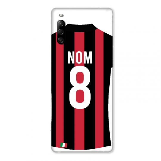 Coque Pour Sony Xperia L4 Personnalisee Maillot Football Milan AC
