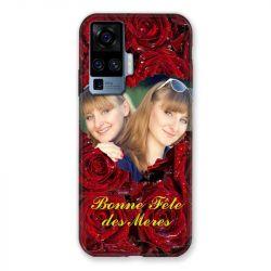 Coque Pour Vivo X51 Personnalisee Fete Des Meres Roses Rouges
