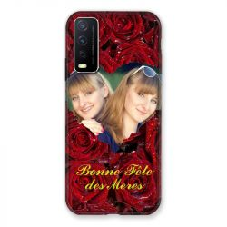 Coque Pour Vivo Y11S Personnalisee Fete Des Meres Roses Rouges