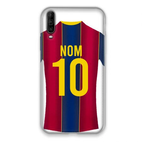 Coque Pour Wiko View 4 Personnalisee Maillot Football FC Barcelone