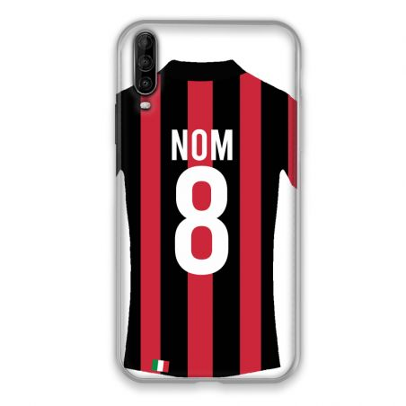 Coque Pour Wiko View 4 Personnalisee Maillot Football Milan AC