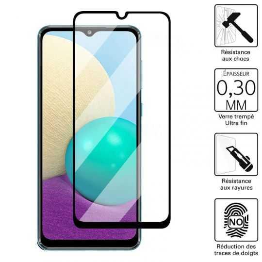 Vitre protection / Verre trempé 3D pour Samsung Galaxy A02S