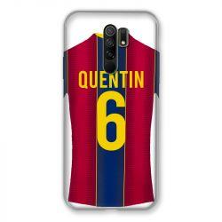 Coque Pour Xiaomi Redmi 9 Personnalisee Maillot Football FC Barcelone