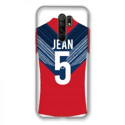 Coque Pour Xiaomi Redmi 9 Personnalisee Maillot Football LOSC Lille