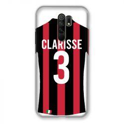 Coque Pour Xiaomi Redmi 9 Personnalisee Maillot Football Milan AC
