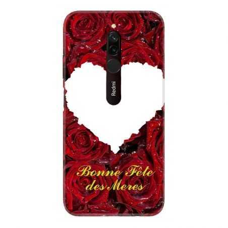 Coque Pour Xiaomi Redmi 8 Personnalisee Fete Des Meres Roses Rouges