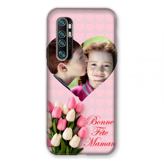 Coque Pour Xiaomi Mi Note 10 Lite Personnalisee Fete Des Meres Coeurs Roses