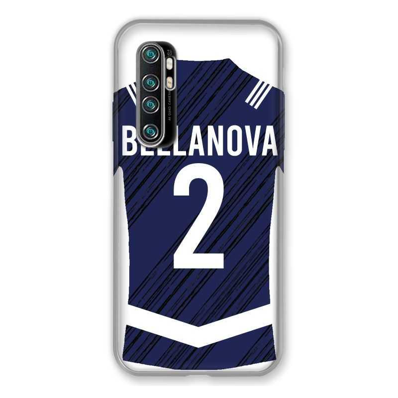 Coque Pour Xiaomi Mi Note 10 Lite Personnalisee Maillot Footbal Girondins Bordeaux
