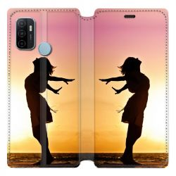 Housse Cuir Portefeuille Pour Oppo A53 / A53S personnalisee