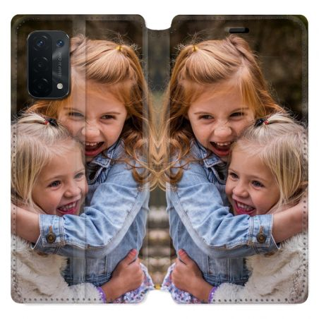 Housse Cuir Portefeuille pour Oppo A54 5G / A74 5G Personnalisee