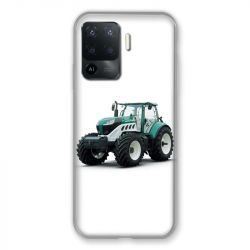 Coque Pour Oppo A94 5G Agriculture Tracteur Blanc
