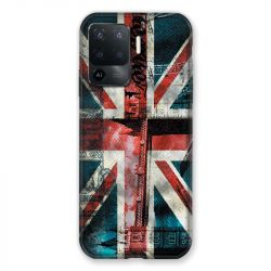 Coque Pour Oppo A94 5G Angleterre UK Jean's