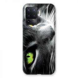 Coque Pour Oppo A94 5G Chat Vert