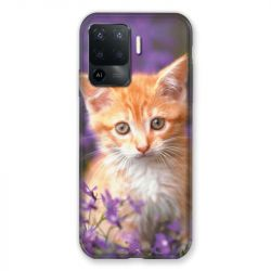 Coque Pour Oppo A94 5G Chat Violet