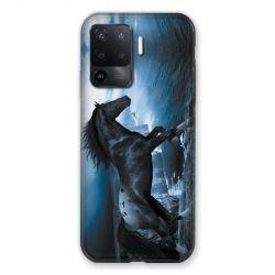 Coque Pour Oppo A94 5G Cheval Noir