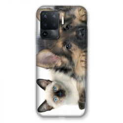 Coque Pour Oppo A94 5G Chien vs Chat