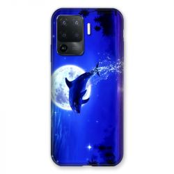 Coque Pour Oppo A94 5G Dauphin Lune