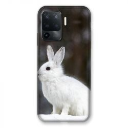 Coque Pour Oppo A94 5G Lapin Blanc