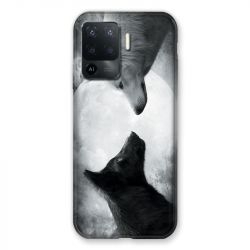 Coque Pour Oppo A94 5G Loup Duo