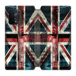 Housse cuir portefeuille Pour Oppo A54 5G / A74 5G Angleterre UK Jean's