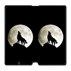 Housse cuir portefeuille Pour Oppo A54 5G / A74 5G Loup Noir